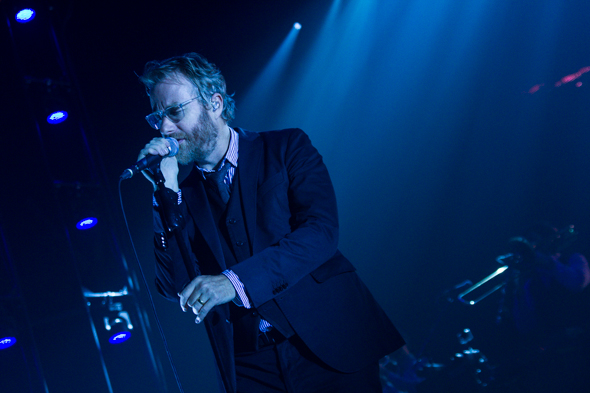 The National på scenen i Forum for nylig. Til sommer gæster de NorthSide Festival. Foto: Mathias Laurvig